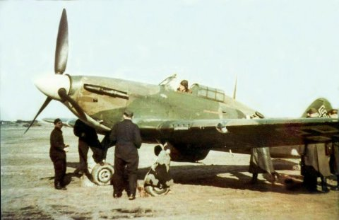 Captured Hawker Hurricane